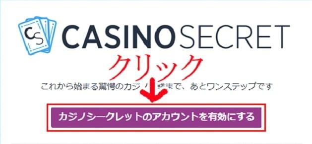 カジノシークレット登録画面5