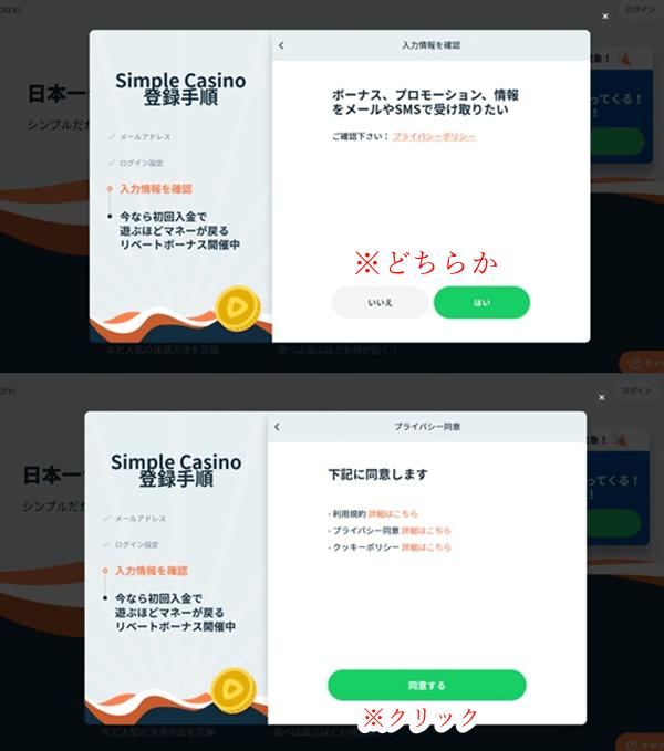シンプルカジノ登録画像10