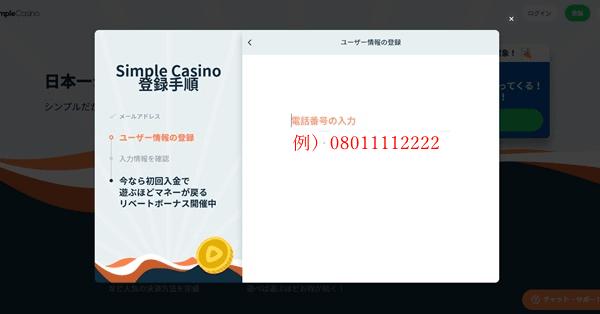 シンプルカジノ登録画像4
